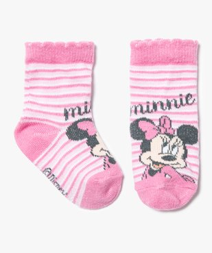 Chaussettes rayées Minnie - Disney vue1 - MINNIE - GEMO
