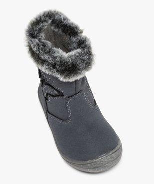 Boots bébé fille à doublure polaire décor papillon vue5 - GEMO(BEBE DEBT) - GEMO