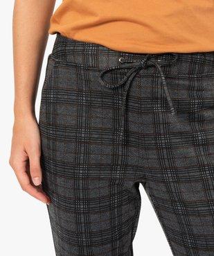 Pantalon femme en maille extensible imprimé vue2 - GEMO(FEMME PAP) - GEMO