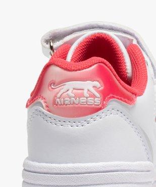 Baskets fille bicolores à lacets et scratch - Airness vue6 - AIRNESS - GEMO