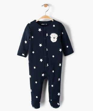 Pyjama bébé garçon avec motifs étoiles 100% coton biologique vue1 - GEMO C4G BEBE - GEMO