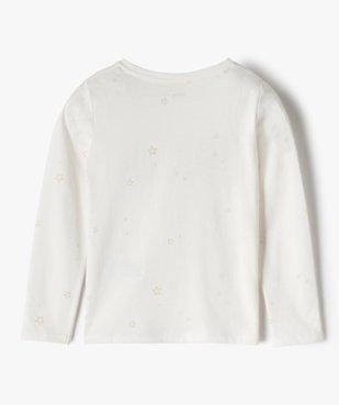 Tee-shirt fille avec motifs en sequins brodés vue3 - GEMO (ENFANT) - GEMO
