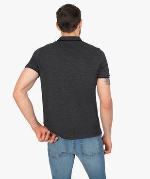 Polo homme à manches courtes à liseré contrastant vue3 - GEMO C4G HOMME - GEMO