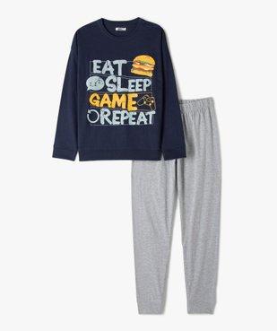 Pyjama garçon bicolore spécial gamer vue1 - GEMO (JUNIOR) - GEMO
