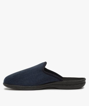 Chaussons homme mules confort en velours ras brodé vue3 - Nikesneakers(HOMWR HOM) - Nikesneakers