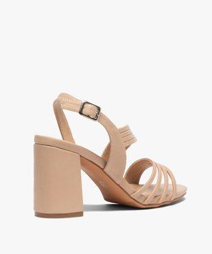 Sandales femme unies à talon et fines brides vue4 - GEMO(URBAIN) - GEMO