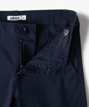 Pantalon garçon chino en toile unie  vue2 - GEMO (ENFANT) - GEMO