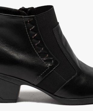 Boots femme confort à talon dessus cuir vue6 - GEMO (CONFORT) - GEMO