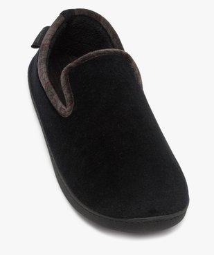 Chaussons homme pantoufles en velours - Isotoner Dessus velours ras vue5 - ISOTONER - Nikesneakers