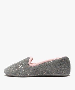 Chaussons femme slippers en velours pailleté - Dim vue3 - DIM - GEMO