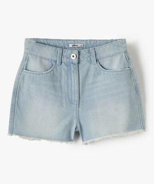 Short fille en jean ultra court taille haute vue2 - GEMO (JUNIOR) - GEMO