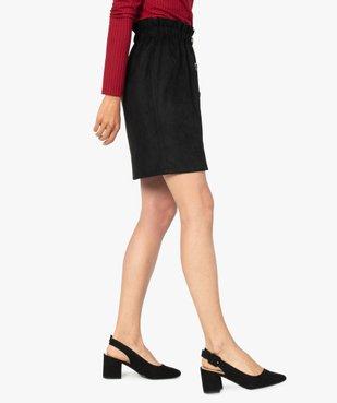 Jupe femme avec taille froncée et boutons fantaisie sur l'avant vue3 - Nikesneakers(FEMME PAP) - Nikesneakers