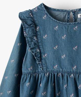 Chemise fille en chambray à motifs fleuris vue2 - GEMO (ENFANT) - GEMO