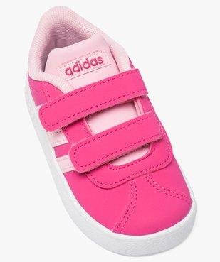 Basket bébé à scratchs bicolores doublée mesh - Adidas vue5 - ADIDAS - GEMO