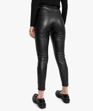 Pantalon femme en matière synthétique coupe slim vue3 - GEMO(FEMME PAP) - GEMO