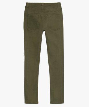 Pantalon garçon coupe skinny en toile extensible vue3 - GEMO (JUNIOR) - GEMO