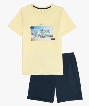 Pyjashort garçon avec photo et inscription sur l'avant vue1 - GEMO (JUNIOR) - GEMO