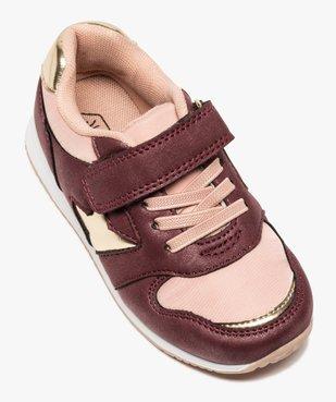 Baskets fille à lacets et scratch détails métallisés vue5 - GEMO (ENFANT) - GEMO
