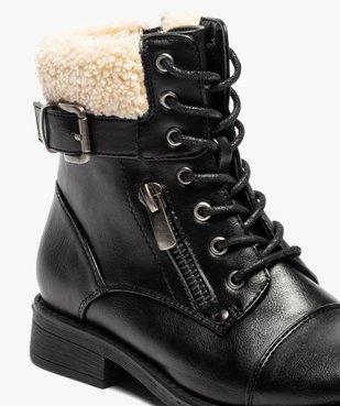 Boots fille à col rembourré fermeture lacets et zip vue6 - GEMO (ENFANT) - GEMO