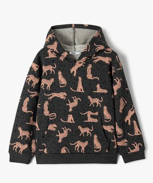 Sweat fille à capuche avec motif léopards vue1 - Nikesneakers (ENFANT) - Nikesneakers