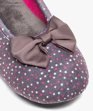 Chaussons femme forme ballerine à pois - Isotoner vue6 - ISOTONER - Nikesneakers
