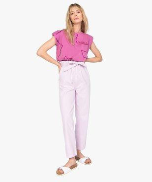 Pantalon femme taille haute - Lulu Castagnette vue5 - GEMO(FEMME PAP) - GEMO