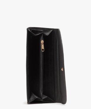 Portefeuille femme verni à motifs fleurs vue2 - Nikesneakers (ACCESS) - Nikesneakers
