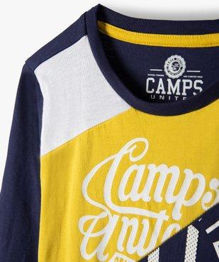 Tee-shirt garçon multicolores à manches longues - Camps vue4 - CAMPS UNITED - Nikesneakers