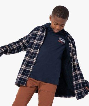 Chemise garçon à carreaux entièrement doublée sherpa vue1 - Nikesneakers (ENFANT) - Nikesneakers