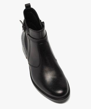 Boots femme à talon plat et bride décorative vue5 - GEMO (CASUAL) - GEMO
