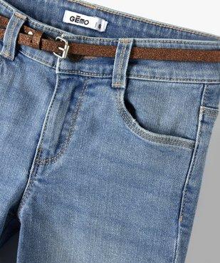 Jean fille coupe bootcut avec ceinture pailletée vue2 - Nikesneakers (ENFANT) - Nikesneakers