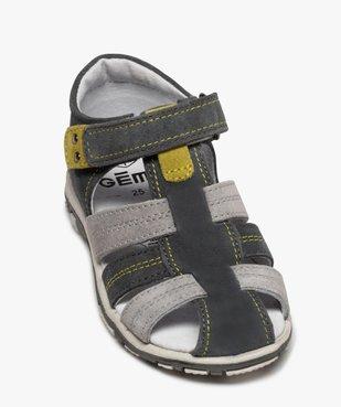 Sandales garçon à scratch à brides multiples en cuir vue5 - Nikesneakers (ENFANT) - Nikesneakers