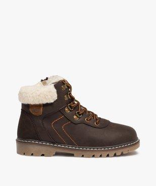 Boots garçon style chaussures de montagne à col sherpa vue1 - GEMO (ENFANT) - GEMO