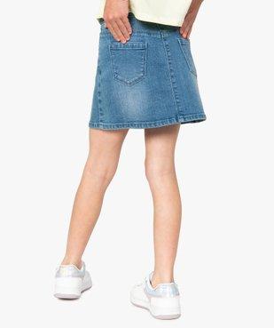 Jupe fille en jean extensible vue1 - GEMO (ENFANT) - GEMO