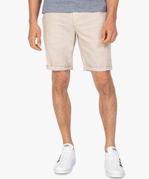 Bermuda homme en lin et coton vue1 - Nikesneakers (HOMME) - Nikesneakers