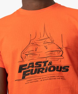 Tee-shirt homme à manches courtes – Fast and Furious vue2 - NBCUNIVERSAL DT - GEMO