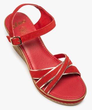 Sandales femme à talon compensé et détails métallisés vue5 - GEMO(URBAIN) - GEMO