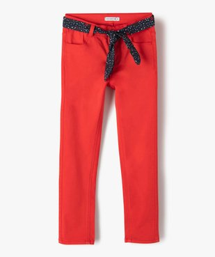 Pantalon fille extensible avec ceinture  – Lulu Castagnette vue1 - LULUCASTAGNETTE - Nikesneakers
