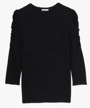 Tee-shirt femme à manches ¾ froncées vue4 - GEMO(FEMME PAP) - GEMO