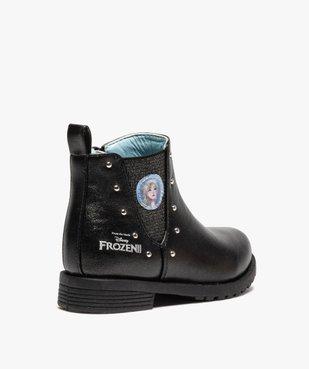 Boots fille zippés détails cloutés – La Reine des Neiges vue4 - REINE DES NEIGE - GEMO