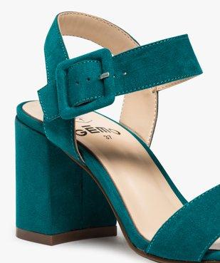 Sandales femme unies à talon carré et bride à boucle vue6 - GEMO(URBAIN) - GEMO