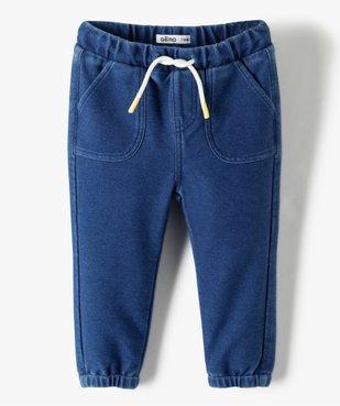 Pantalon bébé garçon en maille souple vue1 - Nikesneakers(BEBE DEBT) - Nikesneakers