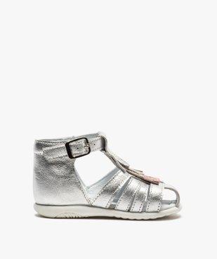 Sandales premiers pas bébé fille avec franges métallisées vue1 - Nikesneakers(BEBE DEBT) - Nikesneakers