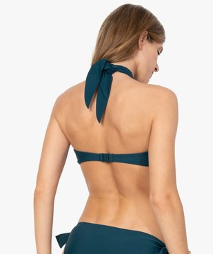 Haut de maillot de bain femme forme bandeau à nouer vue2 - GEMO (PLAGE) - GEMO