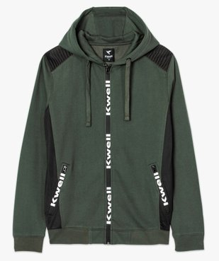 Sweat homme zippé avec empiècements épaules - Kwell by Soprano vue4 - KWELL - GEMO