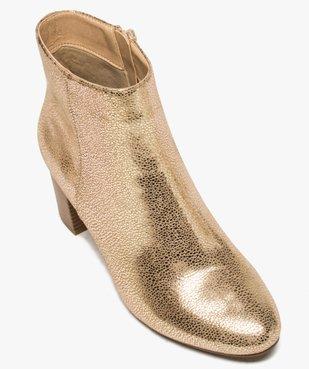 Boots femme à talon carré dessus métallisé vue5 - Nikesneakers(URBAIN) - Nikesneakers