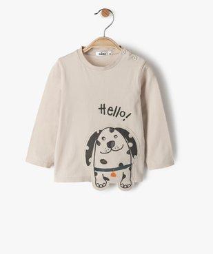 Tee-shirt bébé garçon avec motif chien en relief vue1 - GEMO(BEBE DEBT) - GEMO