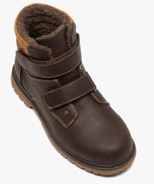 Boots garçon à scratch avec doublure et col rembourrés vue5 - Nikesneakers (ENFANT) - Nikesneakers