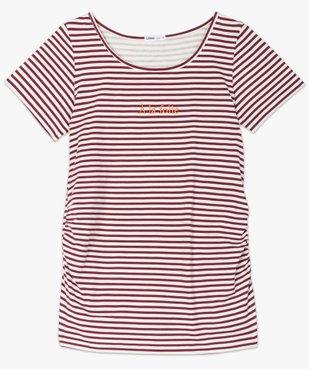 Tee-shirt de grossesse imprimé avec grand col rond vue4 - GEMO (MATER) - GEMO