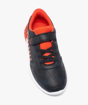 Baskets garçon contrastantes + sac de gym offert vue5 - GEMO (ENFANT) - GEMO